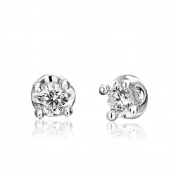 White Gold Earrings with...